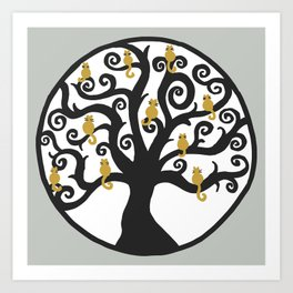 Cat Tree of Life Art Print