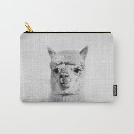 Alpaca - Black & White Carry-All Pouch
