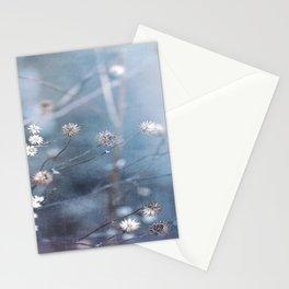 Dusty Fog Flowers Stationery Cards