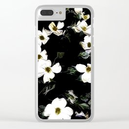 Cascading Dogwood Blossoms Clear iPhone Case