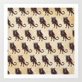 Jersey Devil pattern Art Print