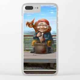 Grandmother Clear iPhone Case