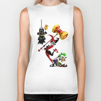 harley Biker Tanks featuring Harley Quinn by The Art of Eileen Marie