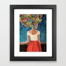 Dans la nuit Framed Art Print