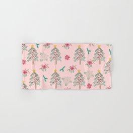 Christmas Pattern Pink Hand & Bath Towel