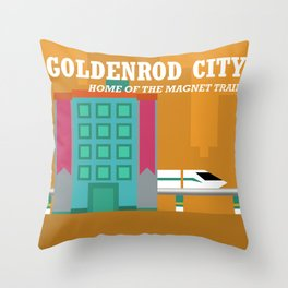 Goldenrod City Throw Pillow