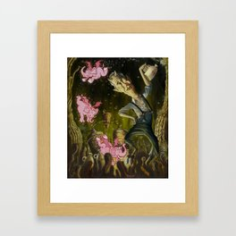 The Demon of Round Cypress Framed Art Print