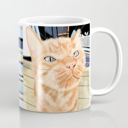 Oliver the Sniffy Red Tabby Cat Coffee Mug