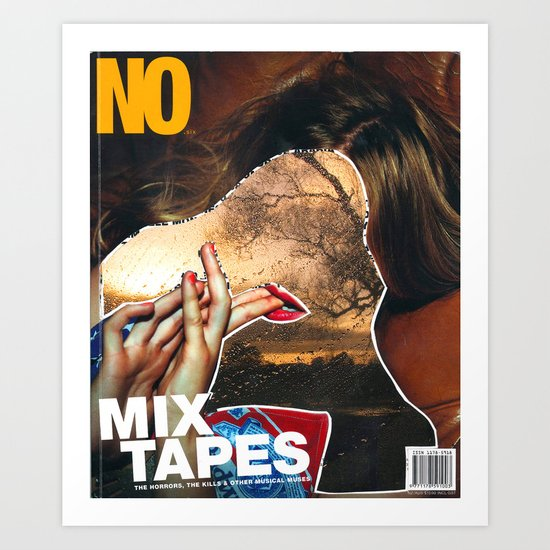 NO / MIX TAPES - Magazine Cutting Art Print