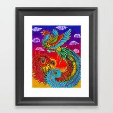 Fenghuang Chinese Phoenix Framed Art Print