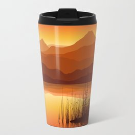 Sunset near Lake Travel Mug
