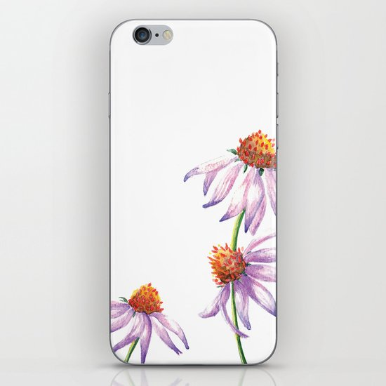 Watercolor Purple Cone Flower iPhone & iPod Skin