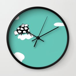 Flying Turtle by McKenna Sanderson Wall Clock