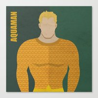 aquaman Canvas Prints featuring Aquaman by Loud & Quiet