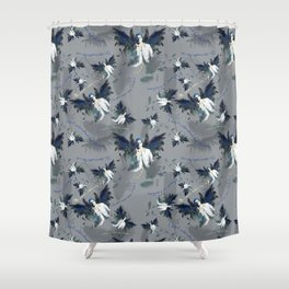 Castiel with Quotes Shower Curtain