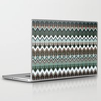ikat Laptop & iPad Skins featuring winter ikat  by Ariadne