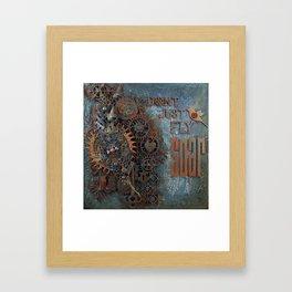 Steampunk Feather Framed Art Print