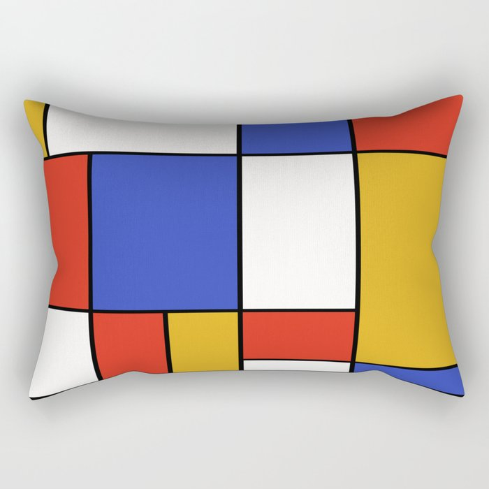 Abstract #401 Mondriaan #8 Rectangular Pillow