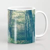 green Mugs featuring Inner Peace by Olivia Joy StClaire