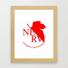 Nerv Framed Art Print