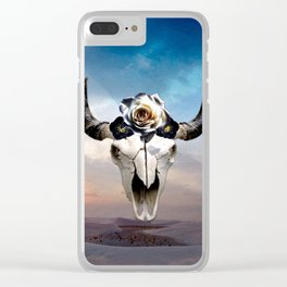 Desert Cow Skull Clear iPhone Case