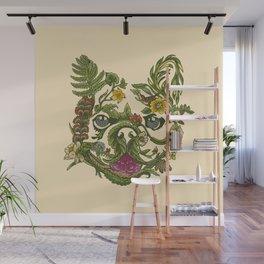 Botanical French Bulldog Wall Mural