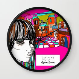 dreamTown Wall Clock
