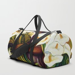 1938 Classical Masterpiece 'Alcatraces Flower Seller' by Diego Rivera Duffle Bag