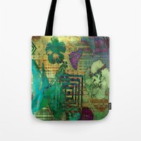 hibiscus Tote Bags featuring Hibiscus by Vitta