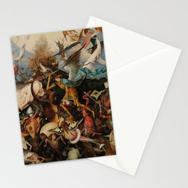 Pieter Bruegel the Elder The Fall of the Rebel Angels Stationery Cards