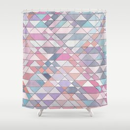 Triangle Pattern no.25 Light Pink Shower Curtain