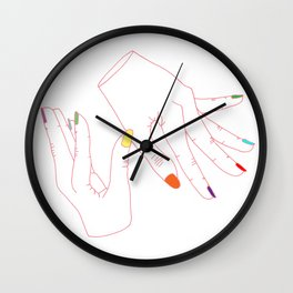 Fingers Wall Clock
