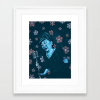 fitzgerald Framed Art Prints featuring Ella Fitzgerald by Jason Raish