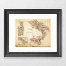 Map of Italy 1855 Framed Art Print