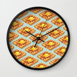 Waffle Pattern Wall Clock