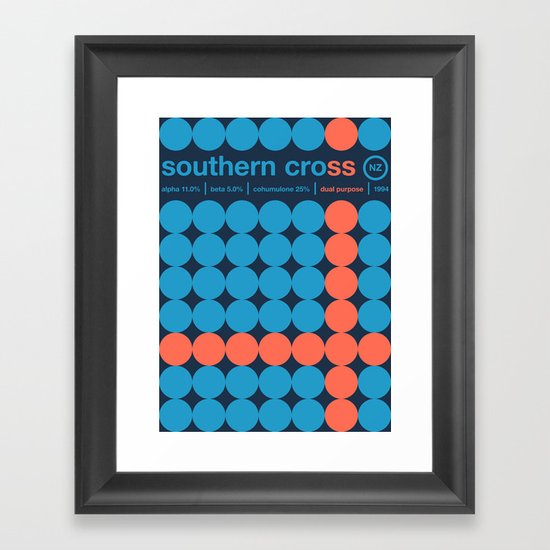 southern cross single hop Framed Art Print