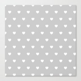 HEARTS ((white on calm gray)) Canvas Print