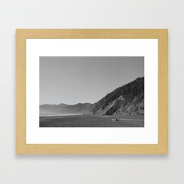 Driftwood on a California Beach Framed Art Print