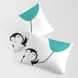 Penguin in love White Pillow Sham