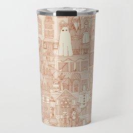 vintage halloween rust ivory Travel Mug