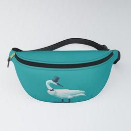 Funny Swan With Bowtie And Cylinder Hat Fanny Pack