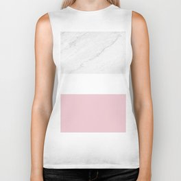 Marble And Dusty Pink Biker Tank