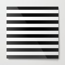 Abstract Black and White Stripe Lines 8 Metal Print