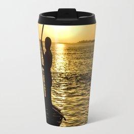 Niger river sunset - Mali, Africa Travel Mug