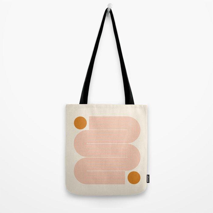 Abstraction_SUN_LINE_ART_Minimalism_002 Tote Bag