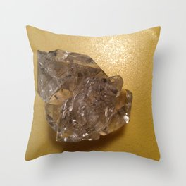 Quartz crystal from New York Throw Pillow