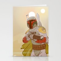 backpack Stationery Cards featuring Jet-powered Backpack by Art of Tyler Newcomb
