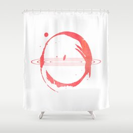 Red Hypnose Shower Curtain