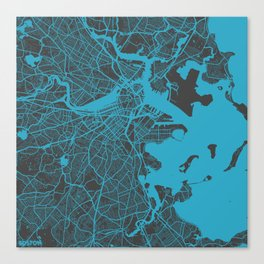 Boston map Canvas Print