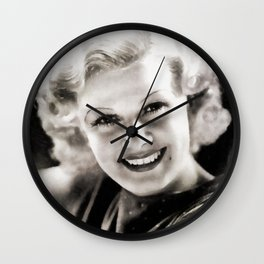 Jean Harlow, Vintage Actress Wall Clock